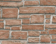 AS Red Brick Textured Wallpaper 6621-18