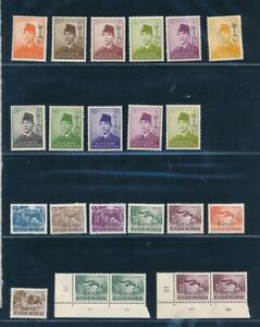 D125808 Indonesia + RIAU Nice selection of MNH stamps (discolor gum)