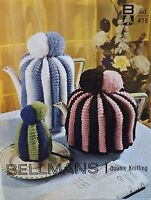 Tea, Coffee And Egg Cosies Vintage Knitting Pattern In Double Knit Wool B416