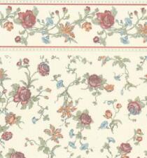 Dolls House Raffina Cream Rose Miniature Print Wallpaper 3 Sheets
