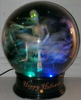 Gemmy Skeleton Halloween Tornado Snow Bat Globe Animated Small 2007 lights sound