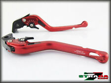 Strada 7 CNC Long Carbon Fiber Levers Honda GROM MSX 125 2013 - 2014 Red