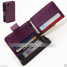 Purple Full Size Long Wallet Flip Leather Case for Apple iPhone 4gs 4g 4 4s AU