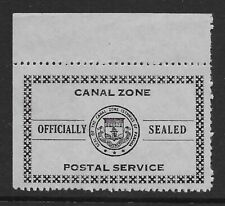 Canal Zone OX5 official seal, no gum as issued, perfs blunt at right