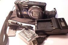 Panasonic DMC-ZS10 16X Optical 14.1MP Digital Camera Black GPS + New Battery