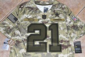 $170 NEW NIKE Dallas Cowboys EZEKIEL ELLIOTT Salute To Service Jersey Mens M 2XL