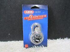 ABUS Combination Lock Hardened Steel Shackle 7mm Diameter, New in Package