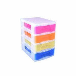 Really Useful Storage Drawer Unit Rainbow 4x7 Litre