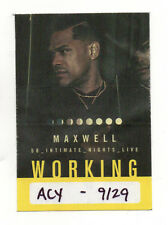 Maxwell 2018 50 Intimate Nights Live Tour Satin Working Crew Backstage Pass