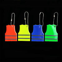 Reflective Safety Keychain Vest Pendant School Bag PVC Reflector Keyring Visible