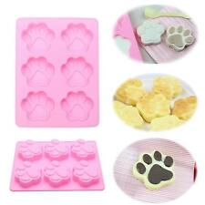 Silicone 6-Cat's Paw Print Mould Chocolate Cookie Candy Soap Resin Wax Mold JJ
