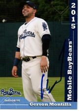 Gerson Montilla 2015 Mobile BayBears Signed Card