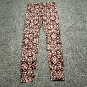FOREVER 21 Multicolor Womens Size Medium Printed Mid-Rise Pull On Casual Legging