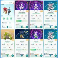 Pokemon Account Go Level 40 | 319 Shiny(Rare) | 189 Legendary(Rare) | 218 Iv100