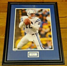 Peyton Manning Signed Framed 16x20 Upper Deck with Certificate