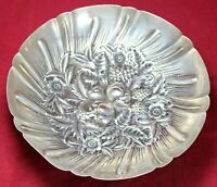 S Kirk & Son Footed Fruit Bowl 233 - Sterling Silver - Repousse - Hand Decorated