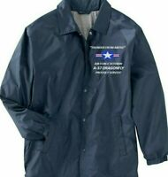 A-37 DRAGONFLY AIR FORCE VETERAN* COACHES EMBROIDERED LIGHTWEIGHT JACKET