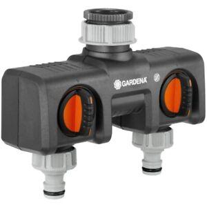 Gardena 2 Wege Verteiler Anschlussmöglichkeit für 2 Geräte an Wasserhahn 8193-20