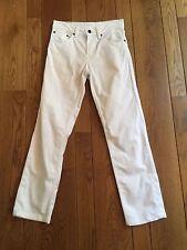 LEVI'S 511 Skinny White Stretch Denim Jeans MENS 28 x 28 zip fly cotton