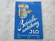 JLO L26 LE50 L60L75 stationäre Allzweckmotoren Betriebsanleitung Bedienung