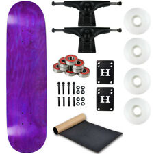 "Moose Complete Skateboard Stain Purple 8.0"" With Black Trucks and White Wheels"