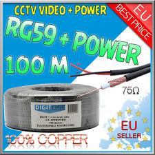 100 Meter Sat Koaxial Kabel Twin Mini 2x5 mm Schwarz Antennenkabel FullHD HDTV