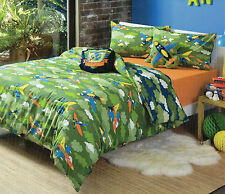 KOOKY BY KAS KAMOKAZE FIGHTER PLANES ON CAMO CLOUDS QUILT COVER SET SINGLE