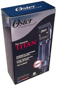Oster TITAN Professional Hair Clipper 2 Elite Black Cryogen-X Blades 76076-310
