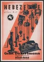 Gebr. Dickertmann Hebezeugfabrik AG Bielefeld histor. Aktie 1942 Ostwestfalen