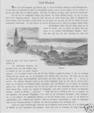 Vista de Meiesbach Oberbayern madera picadura de 1880
