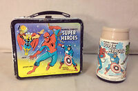 1976 MARVEL COMICS SUPER HEROES LUNCHBOX & THERMOS