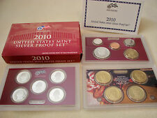 2010 U.S. MINT SILVER PROOF SET WITH BOX AND COA FROM ORIGINAL OWNERS!