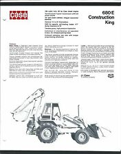 Equipment Brochure Case 680e Construction King C1974 E3403