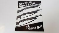 1984 Ithaca Waterfowler Turkey Gun Out-Of-Sight Chokes Pamphlet Brochure Vtg S8