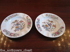 "WedgwoodEngland pair of ashtrays 4 1/2"" diam, ""Kutani Crane"" pattern [*15B]"