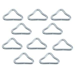 10x Silvery Triangle Rings Buckle Ring V-rings for Trampoline Replacement