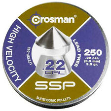 Crosman SSP .22 Cal, 9.5 Grains, Pointed, Lead-Free, 250ct # LF22SP Brand New