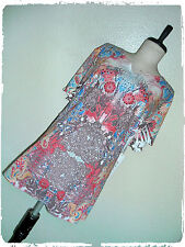 G Collection Sublimated Art Nouveau Floral Scroll Rhinestone Burn Out Tee 1X