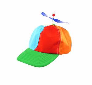Adult Helicopter Clown Hat Propeller Cap Rainbow LGBT Pride Fancy Dress Headwear