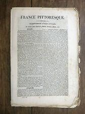 HUGO France Pittoresque L'EURE-ET-LOIR 1835 Avec carte & 5 gravures CHARTRAIN...