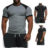 T shirts summer tops slim fit casual blouse o neck muscle tee men's t shirt