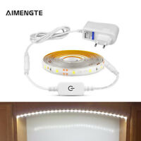 1-5M SMD 2835 Waterproof Dimmable LED Strip Light Touch Switch US EU Plug