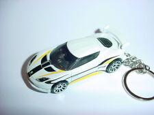 NEW 3D WHITE LOTUS EVORA GT4 CUSTOM KEYCHAIN keyring key racing finish turbo