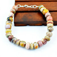 "Details about  /Faceted 20.00 Cts Natural 7/"" Long Smoky Quartz Round Beads Bracelet NK 36E186"