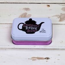 EMERGENCY TEA BAG STASH STORAGE TIN - The Bright Side - Brand NEW! - (BSTIN100)