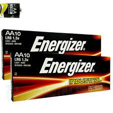 10x Aa-mignon Batteries de Energizer Industriel Alcalin Lr06 En91
