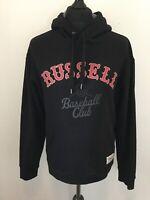 Russell Athletic Sportswear Baseball Club Black Hoody Hoodie Sweater Pullover XL