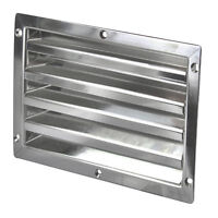 Louvre Air Vent, Polished Stainless Steel Welded Joint , Boat, Caravan, Marine