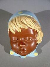 Schöne kleine Cortendorf Wandmaske 3417 Mädchen mit Kopftuch selten Aufkleber