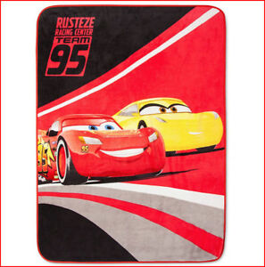 Disney CARS 3 Plush SUPER Soft THROW - Rusteze Racing Center Team 95 🌟NEW🌟